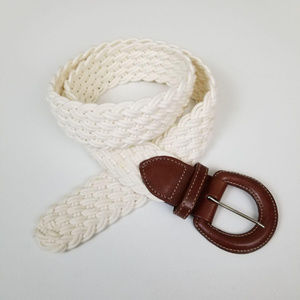 Land's End l Cream and Brown Belt XL